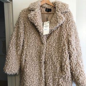 Zara Teddy Coat S/M